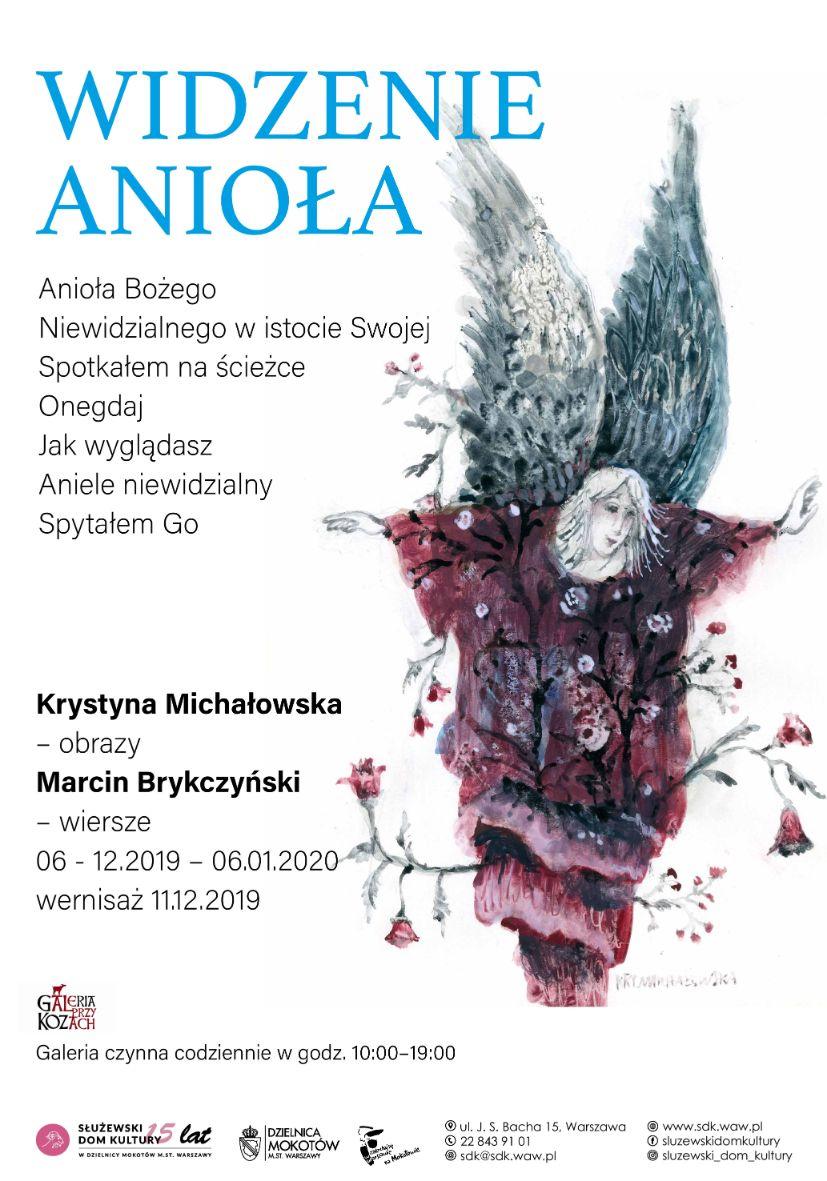 Widzenie Anioła Obrazy Krystyny Michałowskiej I Wiersze